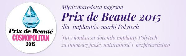 Prix de Beauty 2015 dla implantów Polytech